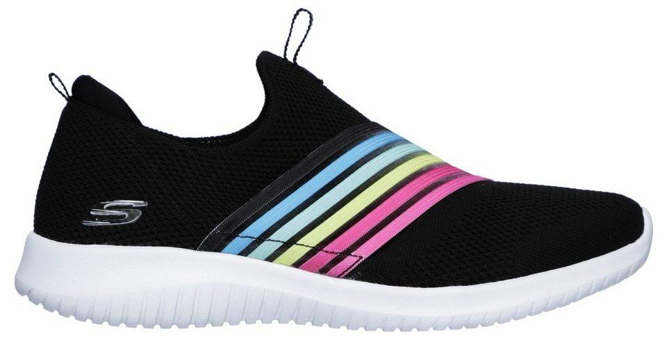 995fc80dd3 Skechers »Ultra Flex - Brightful Day« Slip-On Sneaker mit Kontrastbesatz