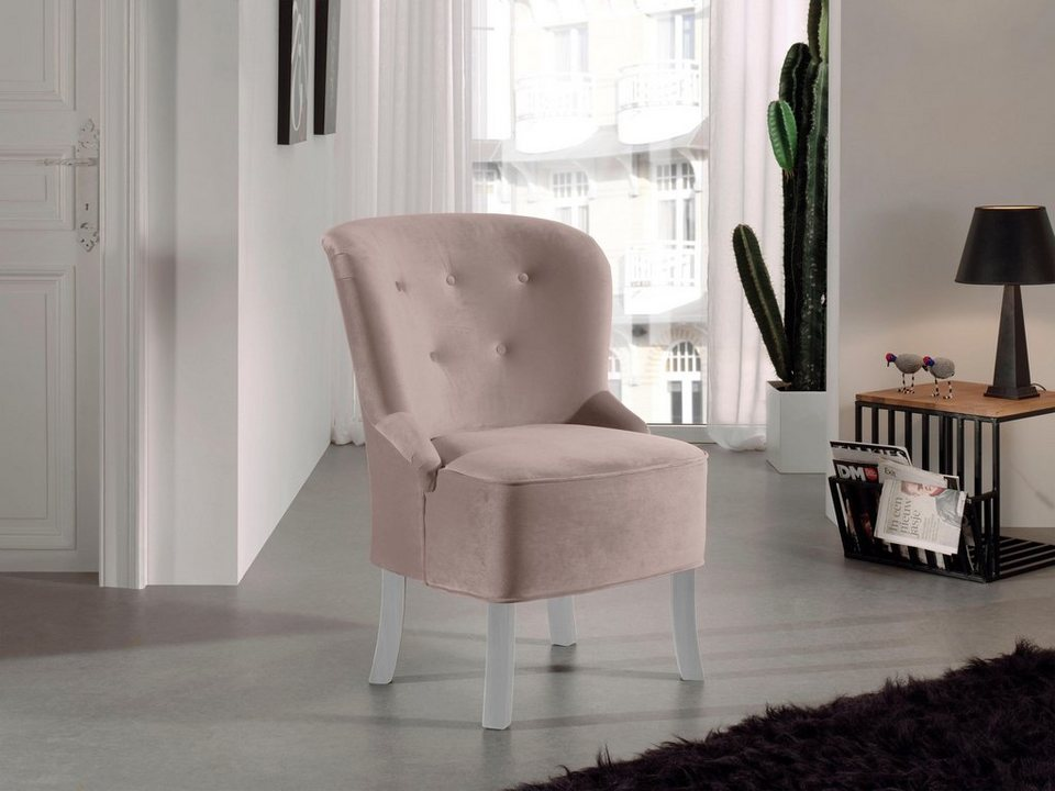 home affaire sessel sagitarius mit knopfheftung in. Black Bedroom Furniture Sets. Home Design Ideas