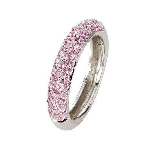 CELESTA Ring »925/- Sterling Silber Zirkonia rosa«
