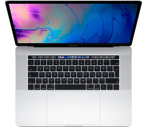 MacBook Pro (2018) Touch Bar Notebook (39,11 cm/15,4 Zoll, Intel Core i7, Radeon Pro, 256 GB SSD)