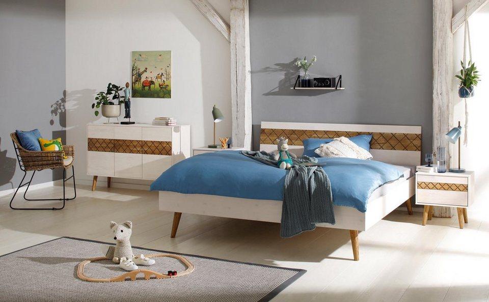 Premium Collection By Home Affaire Bett Agneta Aus Massiver Kiefer Und Massiver Eiche Online Kaufen Otto