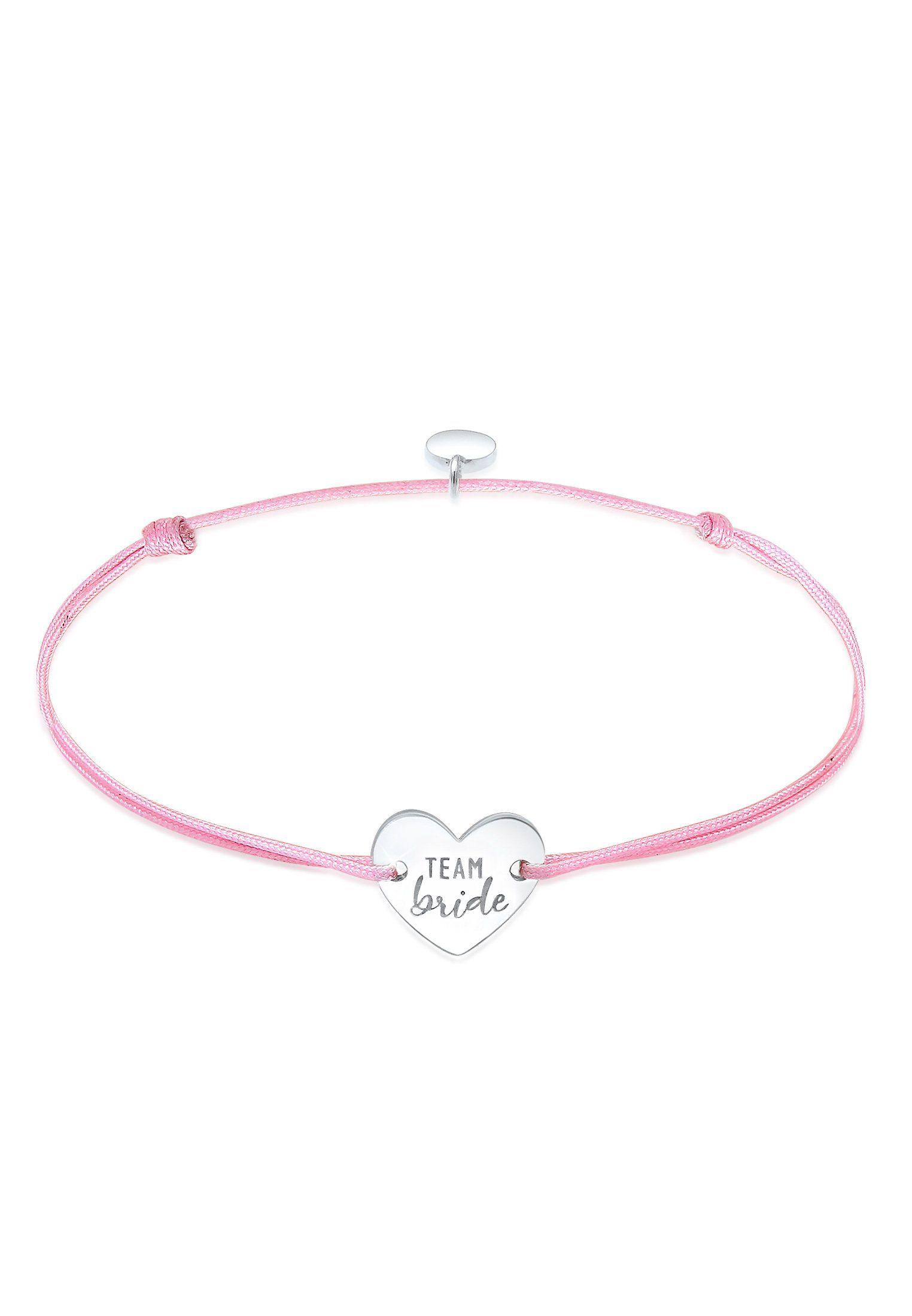 Jewelry & Watches Armband Pink Mit Silbernden Herz Fashion Jewelry