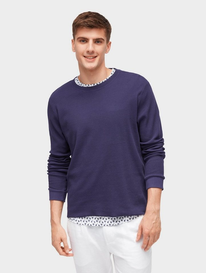 Herren TOM TAILOR Denim  Sweatshirt Sweatshirt mit Struktur blau | 04060868143642