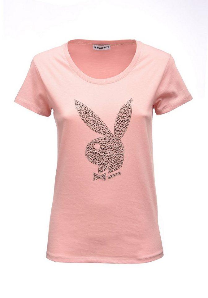 9359387516d94f Playboy T-Shirt mit Bunny-Logo