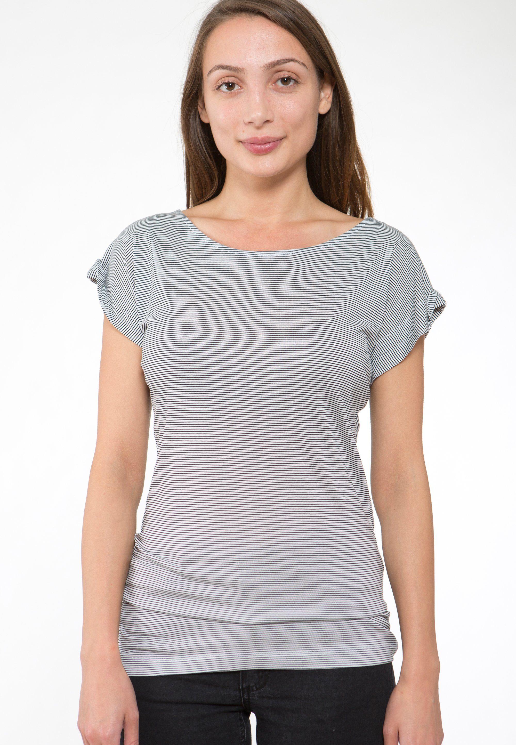 Ezekiel Rundhals-Shirt mit Streifenmuster