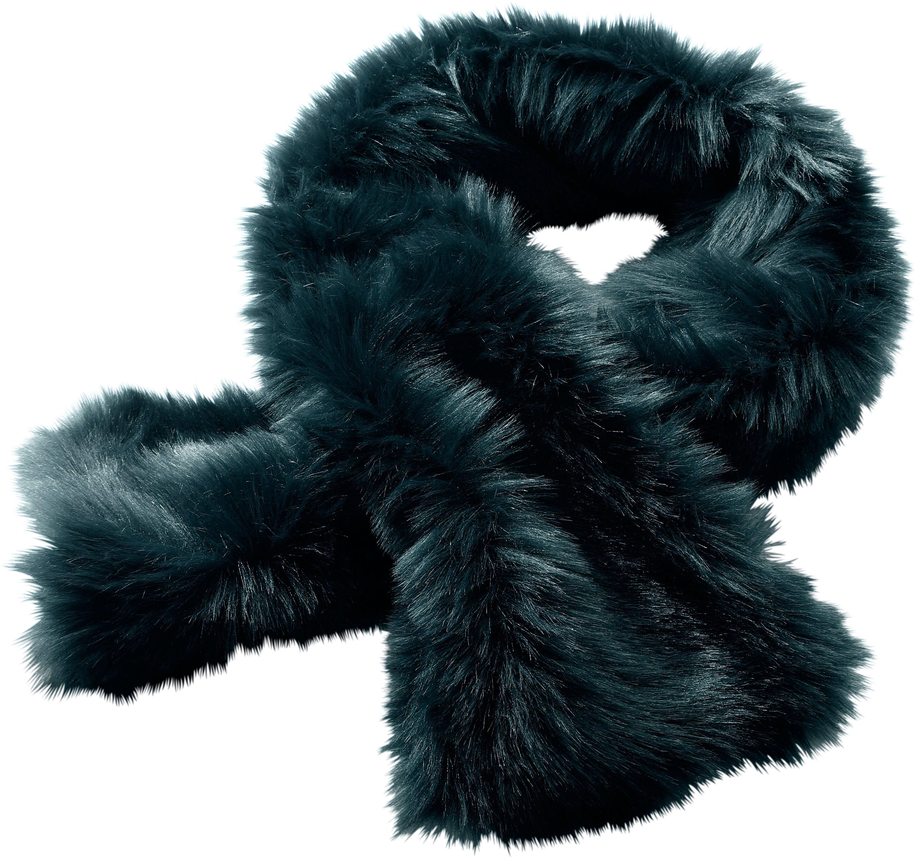 création L Schal in kuscheliger Webpelz-Qualität