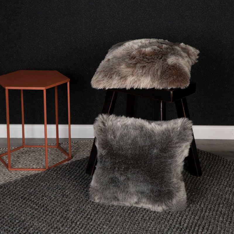 Obsession Fellkissen »My Samba Cushion«, Dekokissen, Zierkissen, eckig, 40x40 cm, changierende Farben, Kunstfell, Wohnzimmer