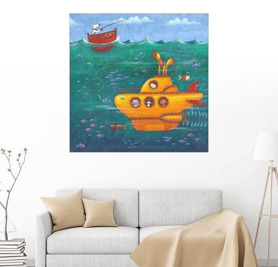 Posterlounge Wandbild - Peter Adderley »Gelbes Uboot«