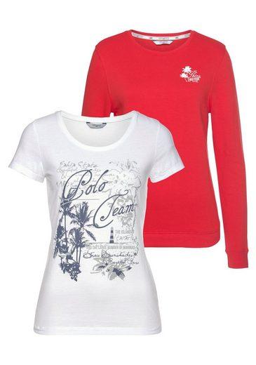 TOM TAILOR Polo Team Sweatshirt (Set, 2-tlg., mit T-Shirt)