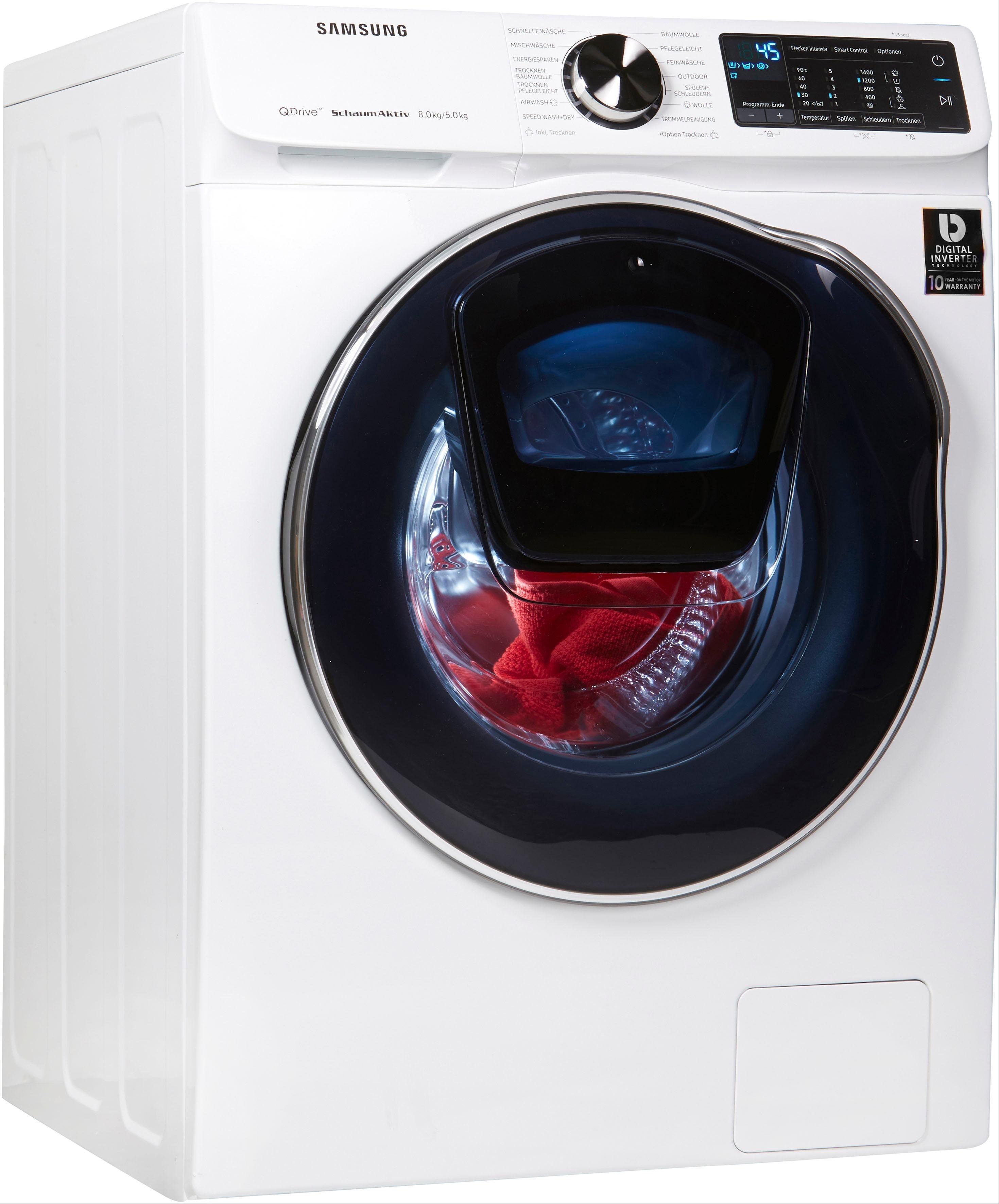 Samsung Waschtrockner WD6800 QuickDrive, 8 kg/5 kg, 1400 U/Min, AddWash