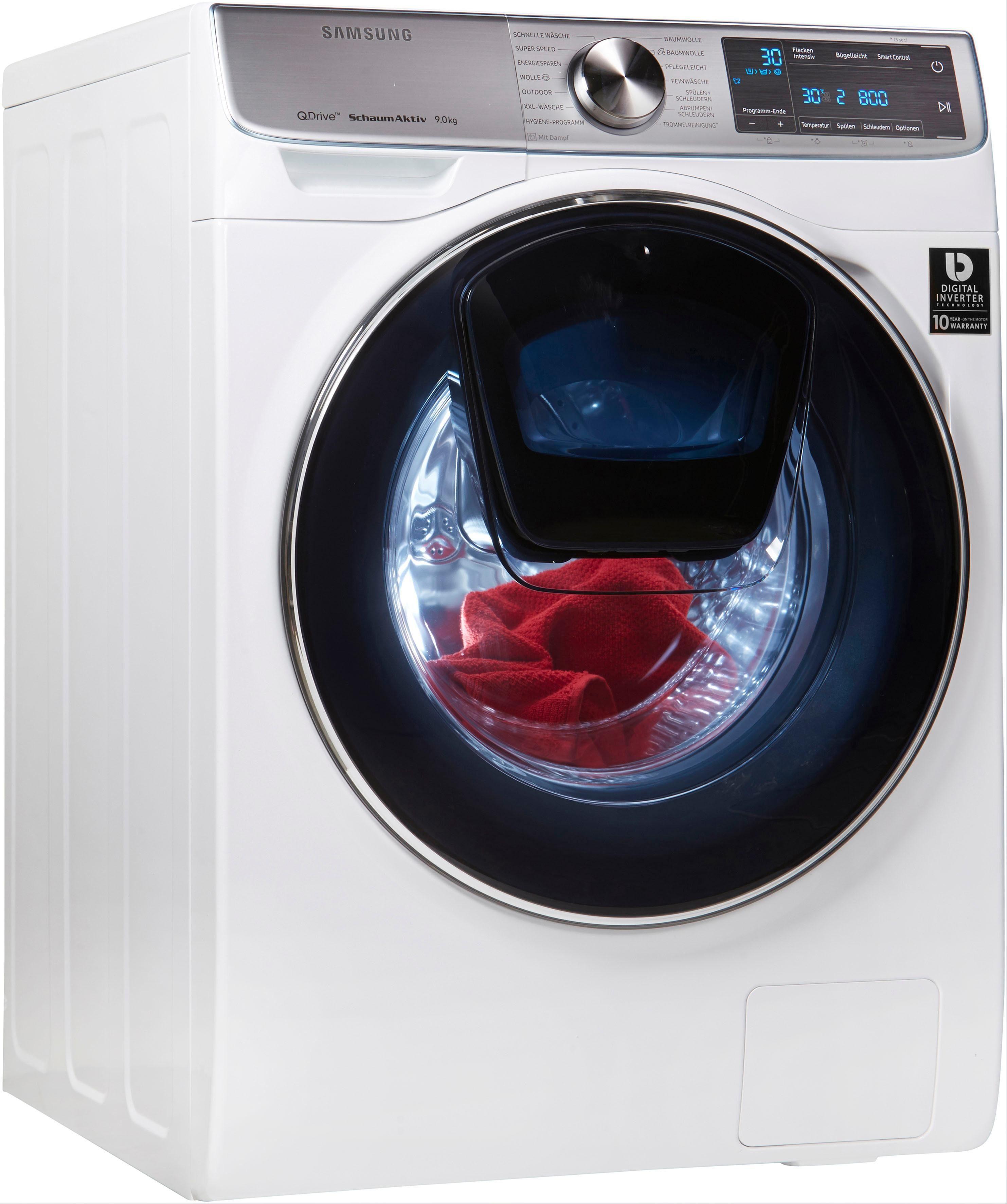 Samsung Waschmaschine QuickDrive AddWash WW7800 WW91M760NOA/EG, 9 kg, 1600 U/Min