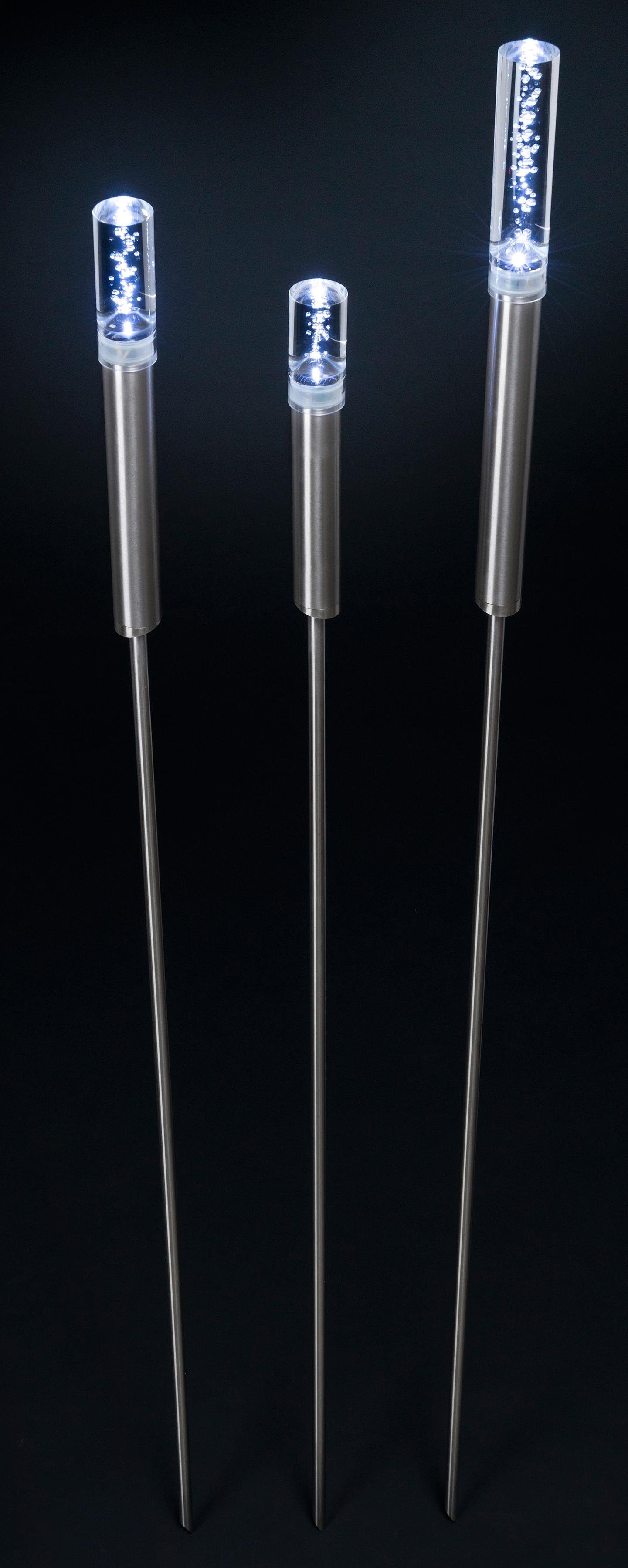 LED Gartenleuchte »SINPASY«, 3-flammig, Edelstahl V2A geschliffen