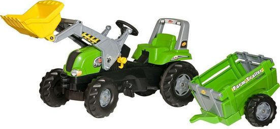 rolly toys® Trettraktor »rollyJunior RT + rollyFarm Trailer«, mit Anhänger