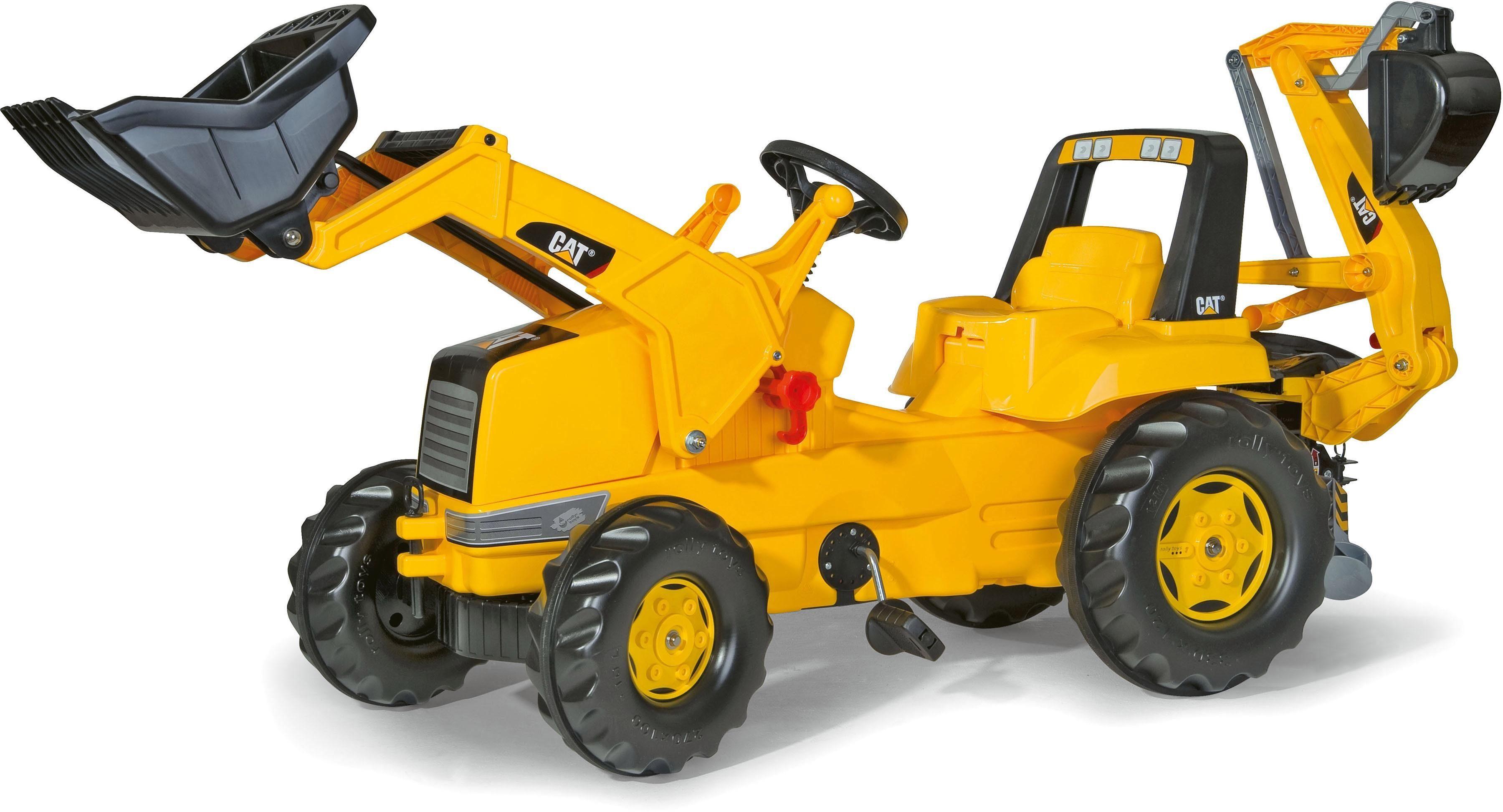 rolly® toys Trettraktor mit Frontlader und Heckbagger, »rollyJunior CAT«