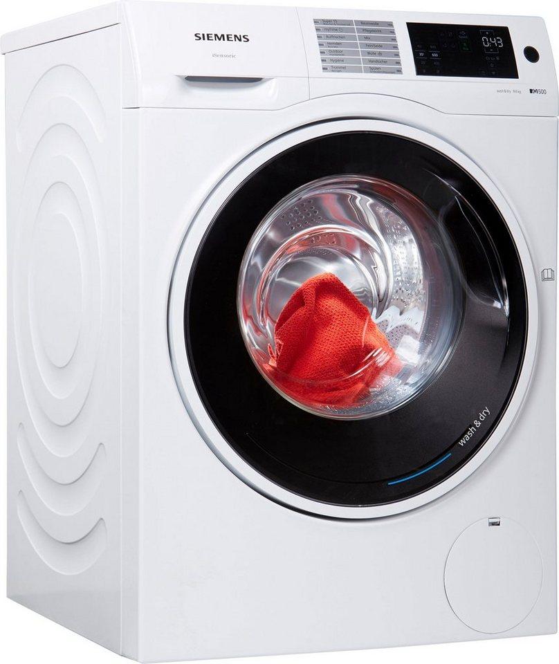 siemens waschtrockner iq500 wd14u540 9 kg 6 kg 1400 u min online kaufen otto