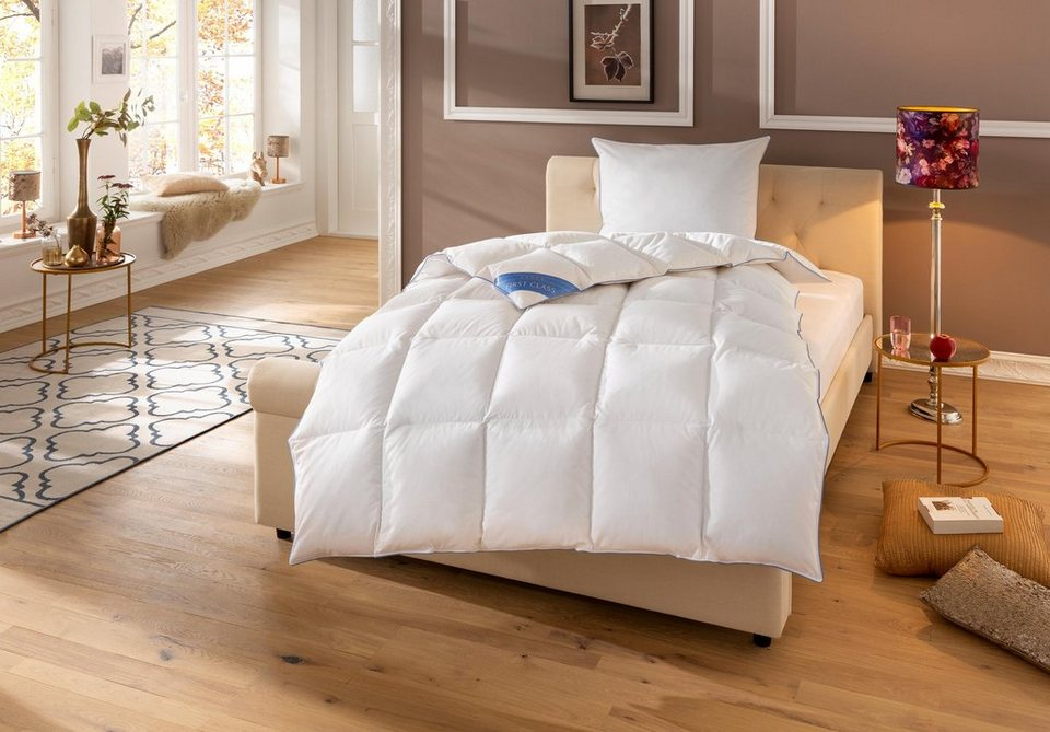 Daunenbettdecke Lina Hanse By Ribeco Warm Fullung 90 Daunen 10 Federn Bezug 100 Baumwolle 1 Tlg Online Kaufen Otto