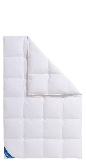 Daunenbettdecke, »Hanna«, Schlafwelt, normal, Füllung: 80% Daunen, 20% Federn, Bezug: 100% Baumwolle, (1-tlg), Wirksam gegen Milben und Mücken