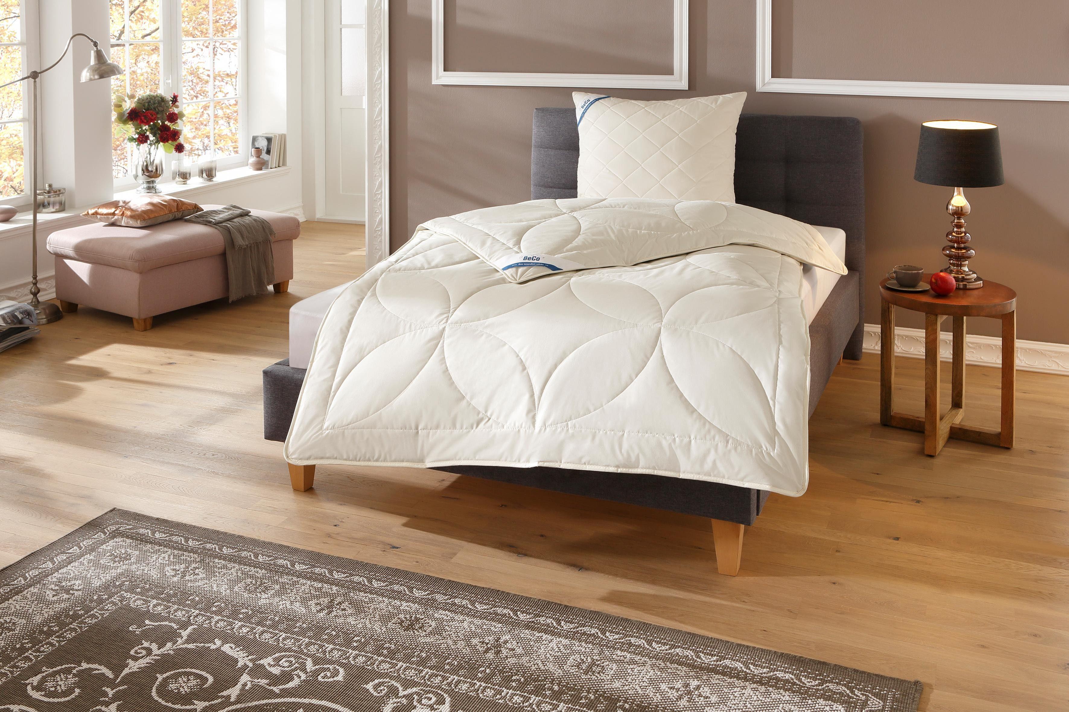 Bettdeckenset, »BeCo Kamelhaar«, Beco, Warm - natürliches Bettklima und waschbar bis 30°