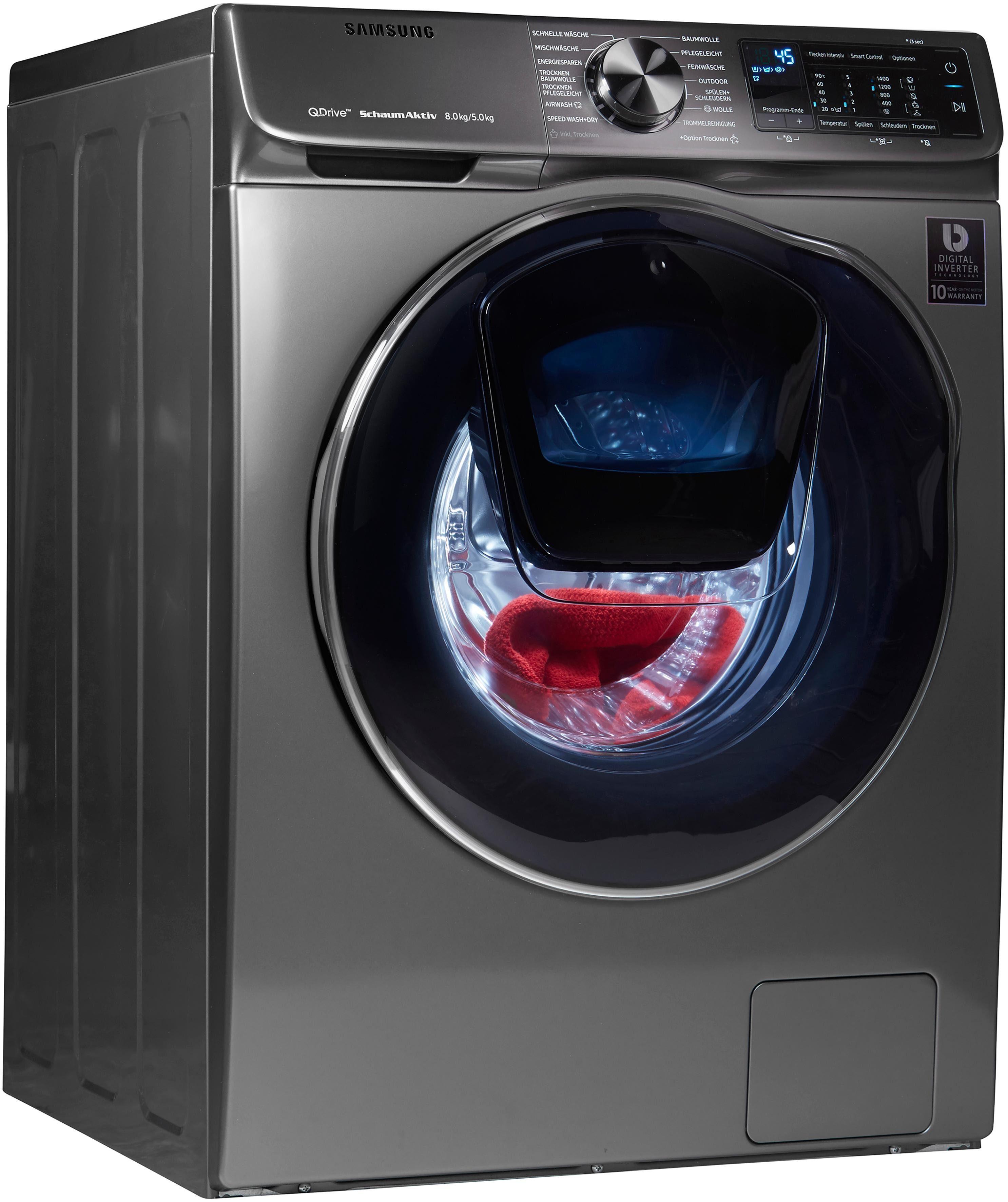 Samsung Waschtrockner WD6800 QuickDrive WD80N642OOX, 8 kg/5 kg, 1400 U/Min, AddWash