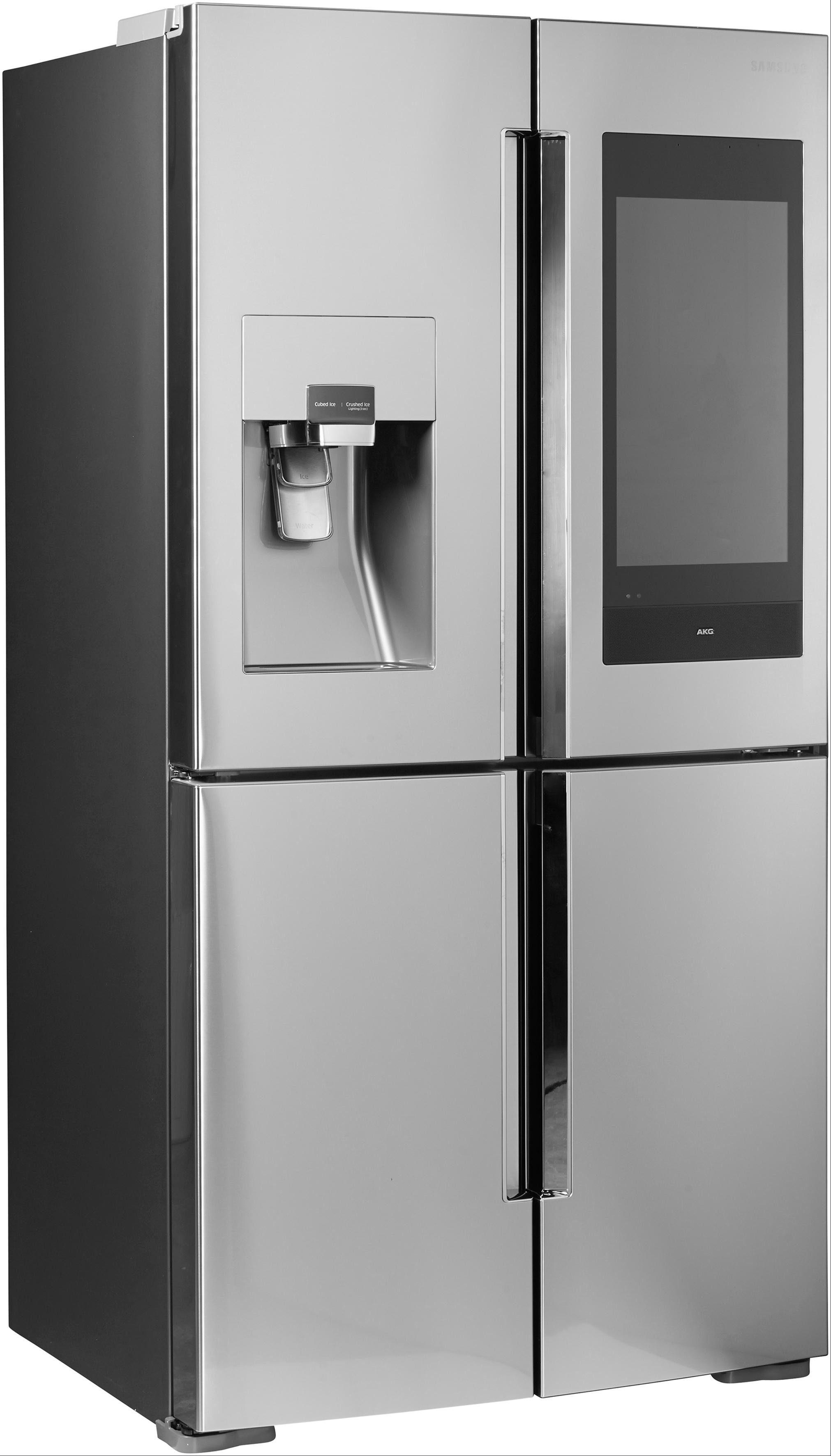 Samsung French Door Kühlschrank RF56N9740SR/EF, 182,5 cm hoch, 90,8 cm breit, Family Hub – Display im Kühlschrank