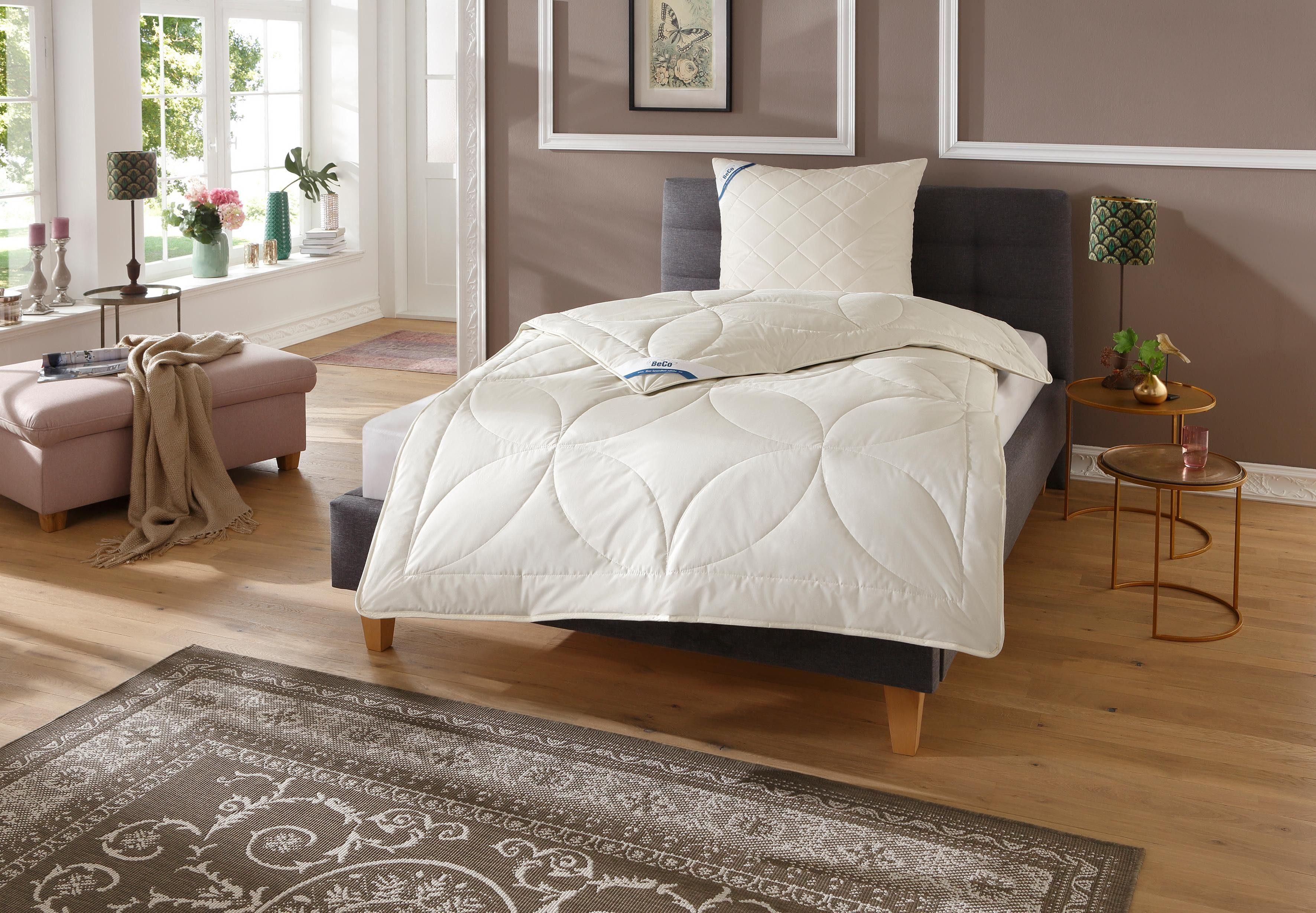 Bettdeckenset, »BeCo Kamelhaar«, Beco, Leicht - natürliches Bettklima und waschbar bis 30°