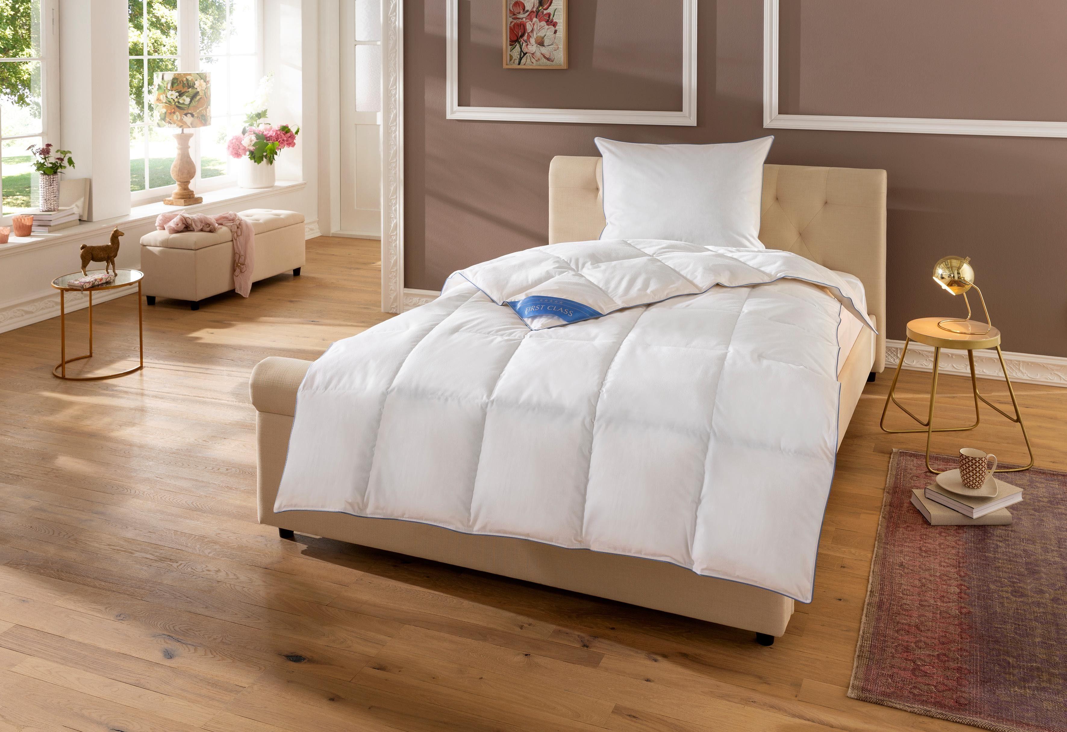 preiswerte 2-er Sets F/üllung: 100/% 90/% oder 80/% Federn Baumwollbezug RIBECO Kopfkissen
