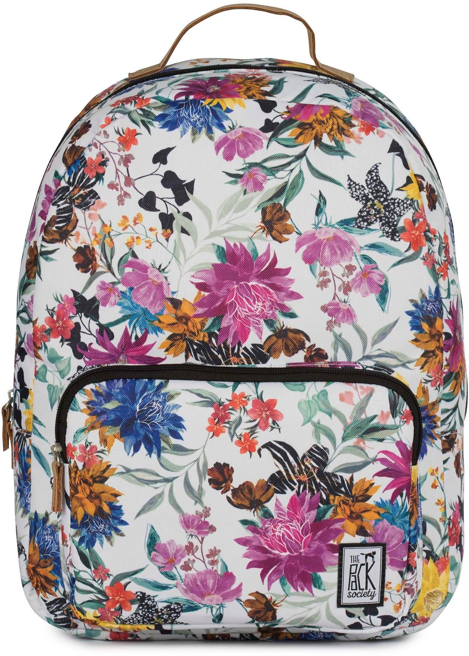 The Pack Society Rucksack mit Laptopfach, »Classic Backpack, multicolor flower allover«