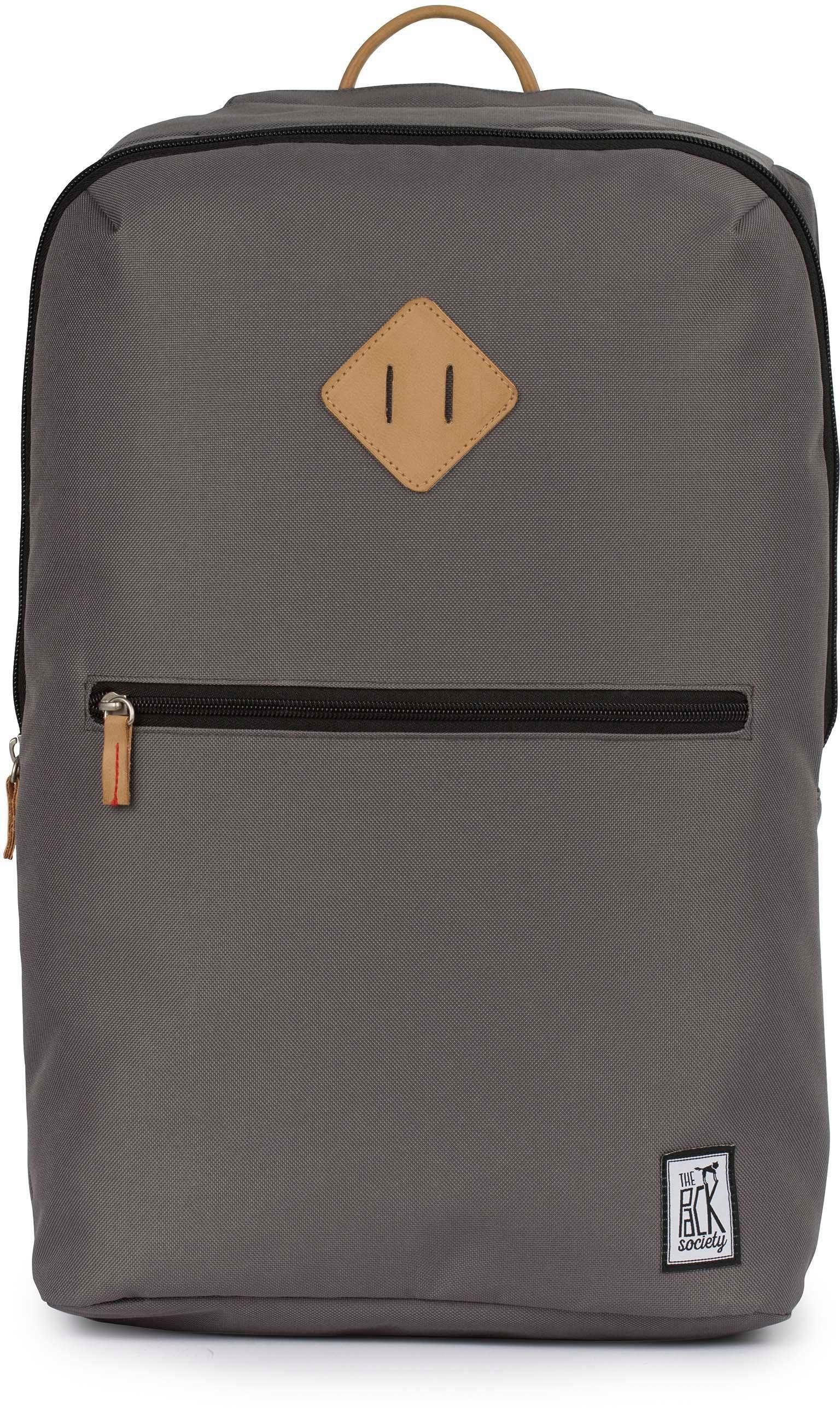 The Pack Society Rucksack mit Laptopfach, »Double Backpack, solid charcoal«