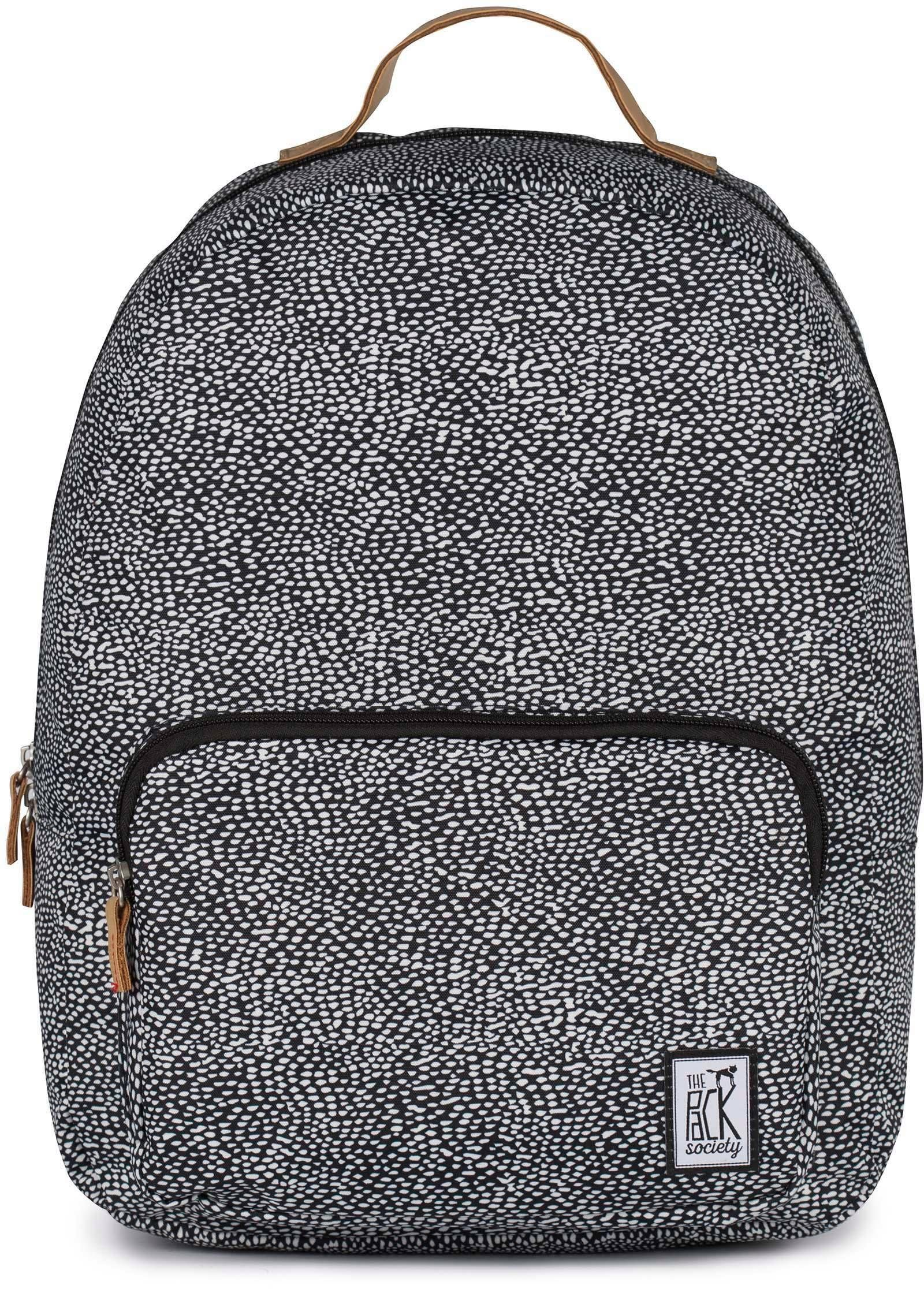 The Pack Society Rucksack mit Laptopfach, »Classic Backpack, offwhite black dot allover«