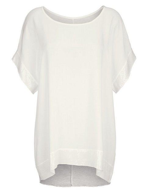 Alba Moda Oversizedshirt mit Paillettendetails | Bekleidung > Shirts > Oversize-Shirts | Alba Moda