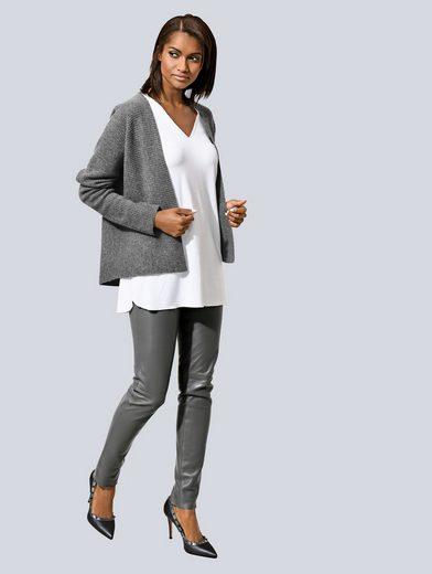 Alba Moda Strickjacke aus hochwertigem, reinem Kaschmir