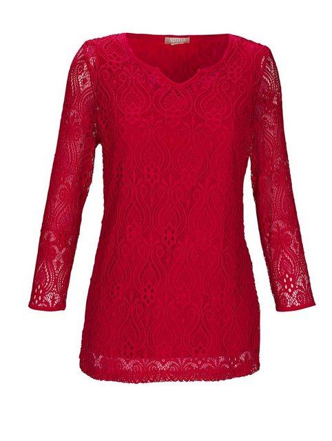 Mona 2-in-1 Shirt aus floraler Spitze | Bekleidung > Shirts > 2-in-1 Shirts | Mona