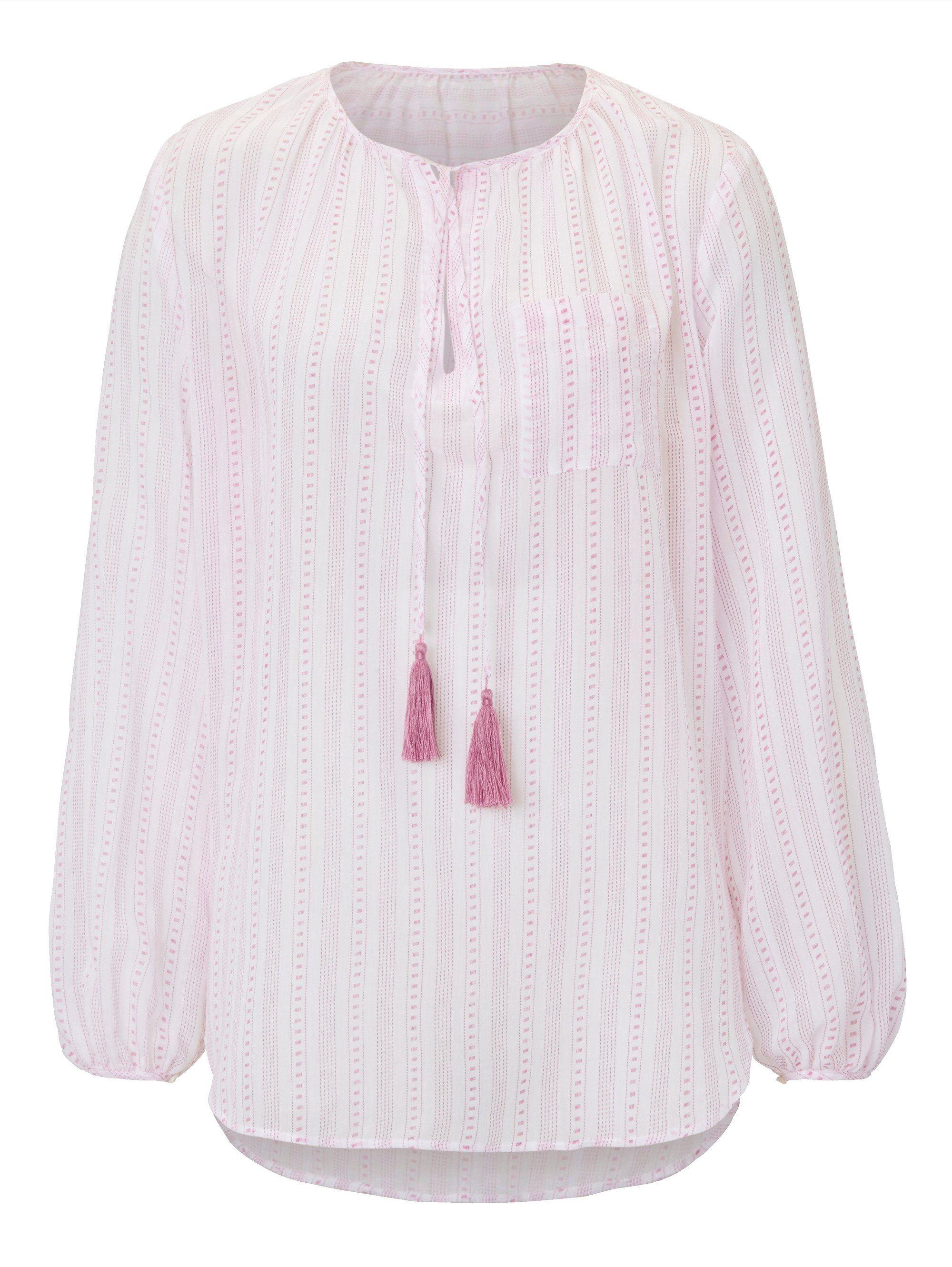 Mellow Peach Tunika im Wäsche-Look | Bekleidung > Tuniken > Sonstige Tuniken | Polyester - Baumwolle | Mellow Peach