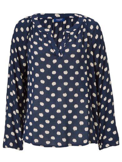 Conleys Blue Bluse mit Allover-Print Äpfel