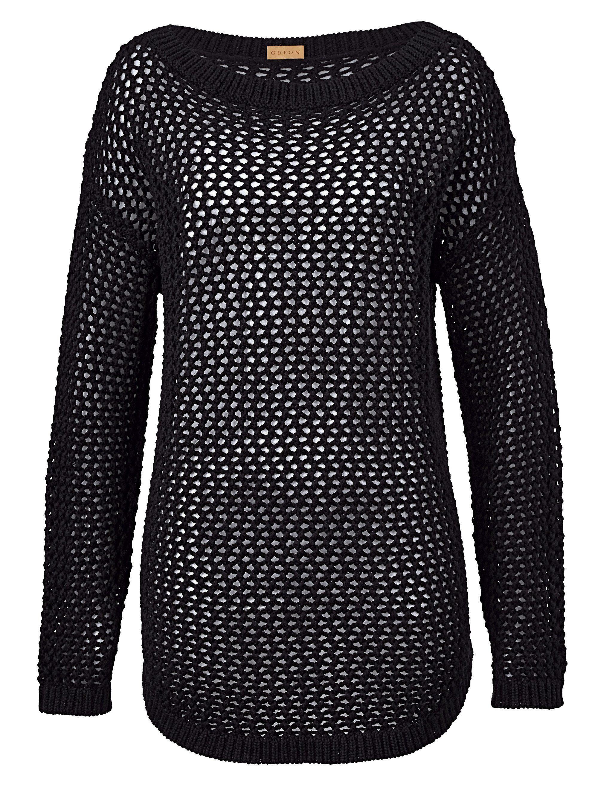 ODEON Pullover mit offener Struktur