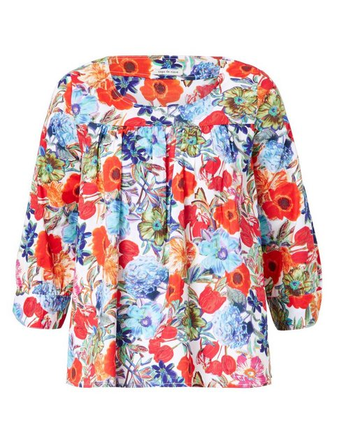 Copo de nieve Schlupfbluse mit farbenfrohem Blumendruck | Bekleidung > Blusen > Schlupfblusen | Copo de nieve