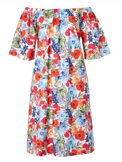 Copo de Nieve Kleid mit farbenfrohem Blumendruck