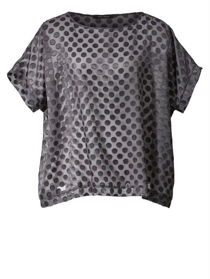 Sara Lindholm by Happy Size Oversize-Bluse gepunktet online kaufen ... 3e4c4b23b1