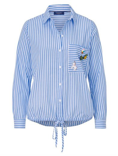 Conleys Blue Bluse Mit abnehmbaren Pins