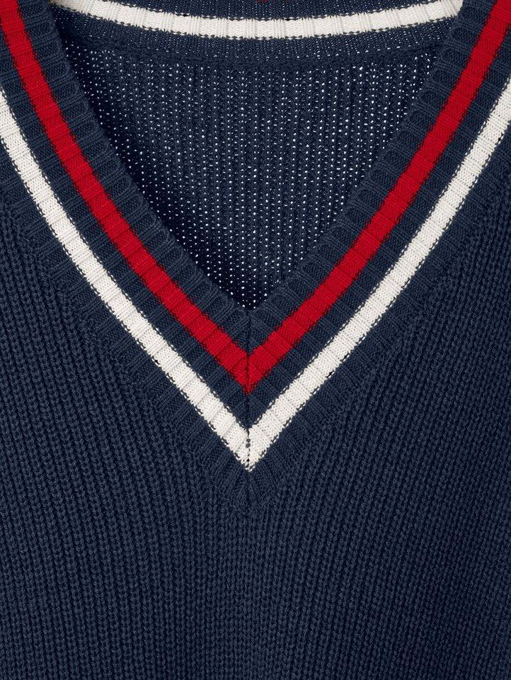 Conleys Blue Strickpullover mit Kontrast-Details