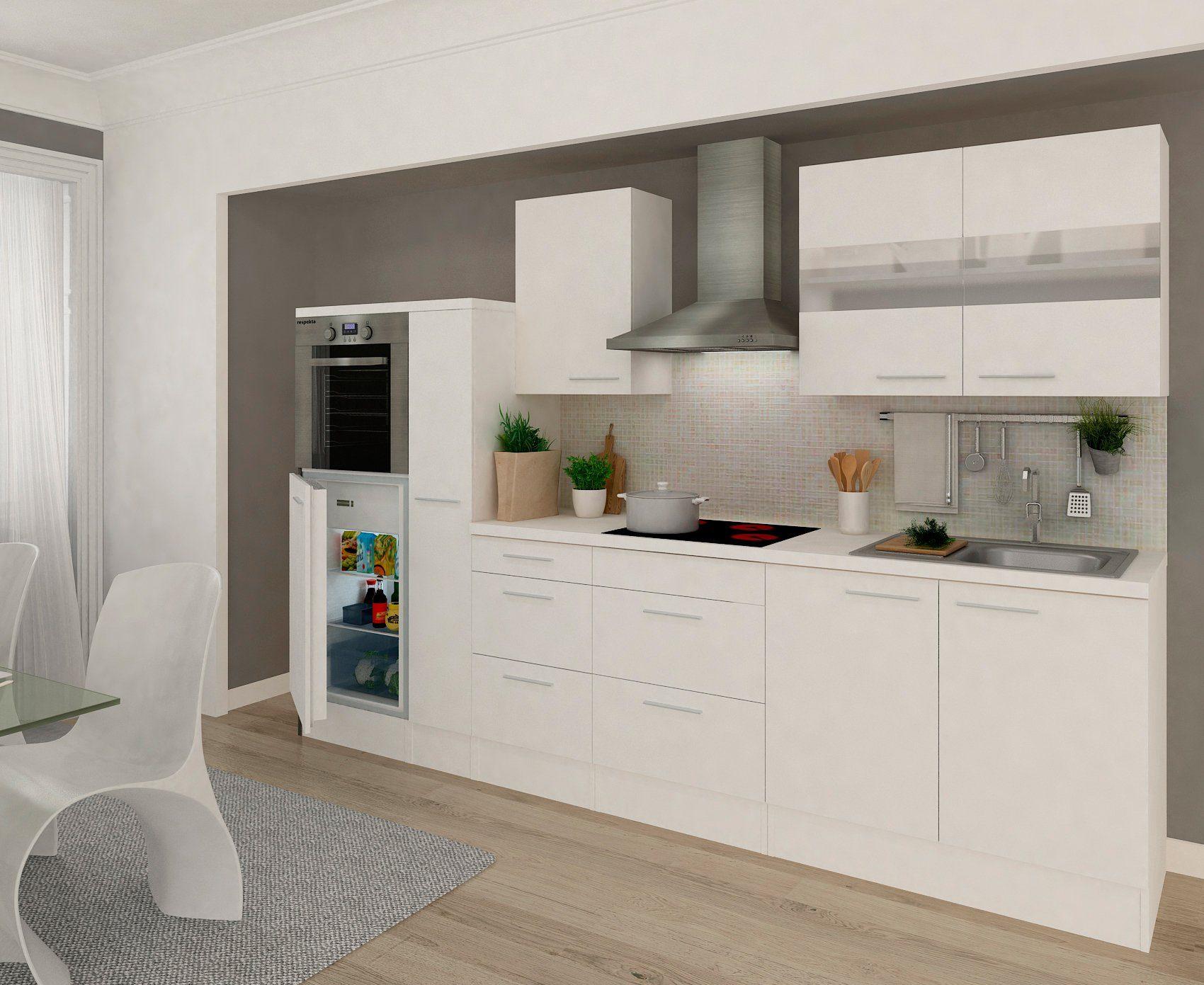 RESPEKTA Küchenzeile mit E-Geräten »Premium«, Gesamtbreite 300 cm