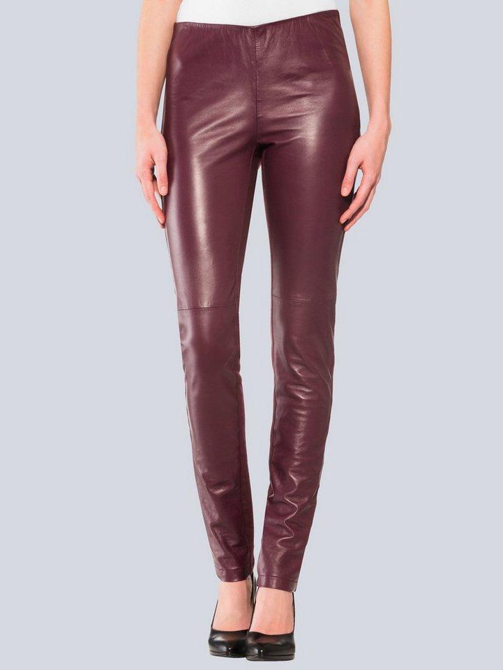 alba moda -  Leder-Patch-Röhre im Mix aus Leder und Jersey