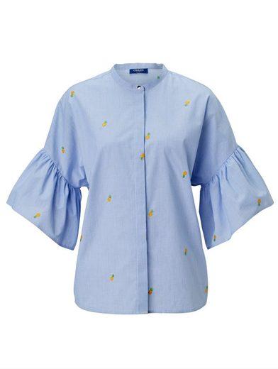 Conleys Blue Bluse mit gestickten Ananas