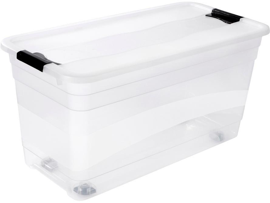 keeeper aufbewahrungsbox mit deckel und rollen 79 5 x 39 5 x 41 cm 83 liter konrad online. Black Bedroom Furniture Sets. Home Design Ideas