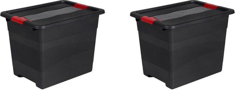 keeeper Transportbehälter »eckhart«, (Set, 2-St), je 24 Liter