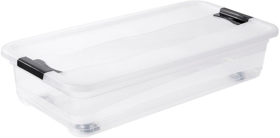 keeeper aufbewahrungsbox mit deckel und rollen 79 5 x 39 5 x 18 cm 33 liter konrad online. Black Bedroom Furniture Sets. Home Design Ideas
