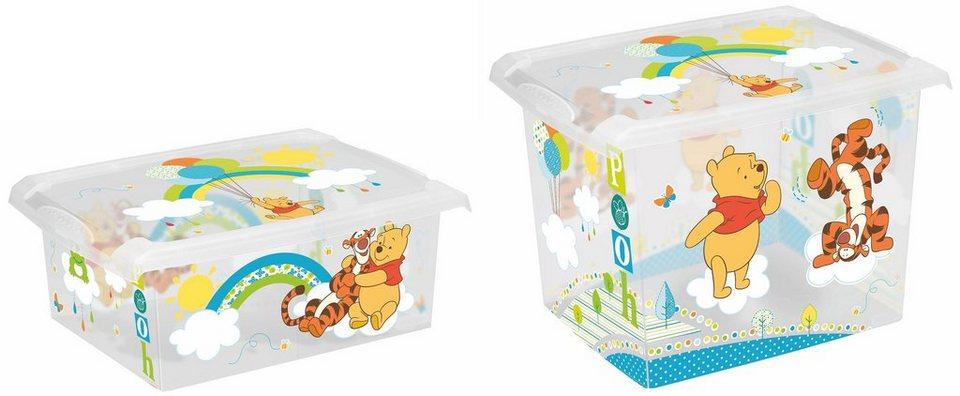 keeeper deko box mit deckel und winnie puuh dekor 2er set. Black Bedroom Furniture Sets. Home Design Ideas