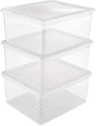 keeeper Stapelbox »bea« (Set, 3 Stück), mit Belüftungsfunktion, 18 Liter