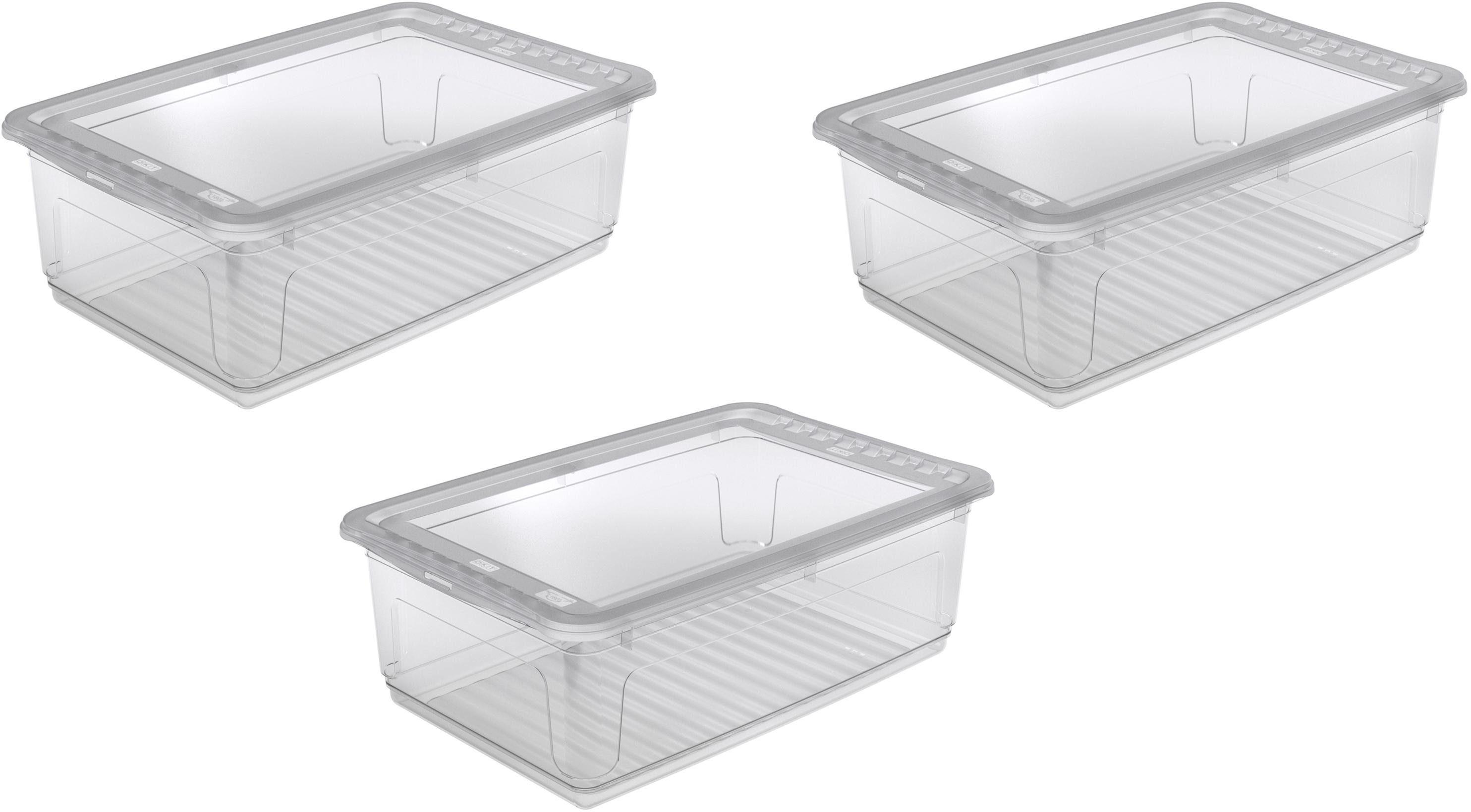 keeeper Clearbox mit Belüftungsfunktion, 59 x 39 x 18 cm, 30 Liter, 3er Set, »bea«