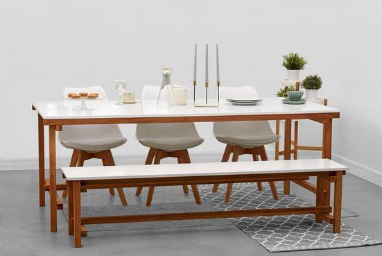 Home affaire Essgruppe »Construction«, (Set, 2-tlg), bestehend aus Tisch und Bank